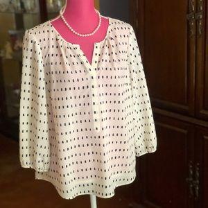 Classic Talbots New Dressy Blouse sz L